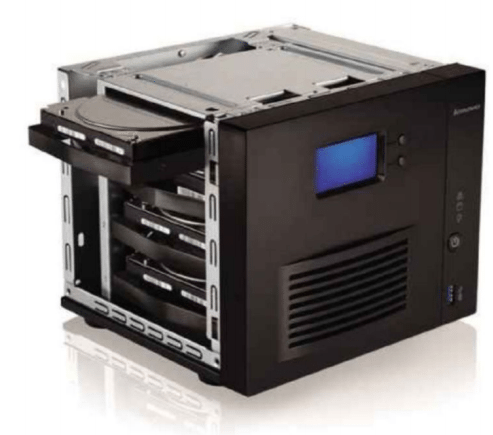 Although a good NAS drive, the Lenovo Iomega does have some odd design features