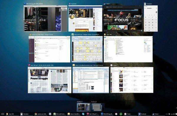 multi-tasking screen