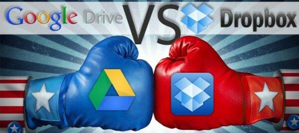 App Battle Google Drive versus Dropbox