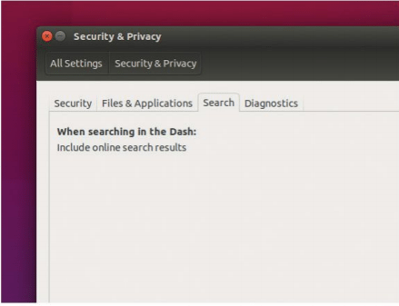 Ubuntu still includes online results in local searches, but it's easy to disable if you want to increase your privacy.