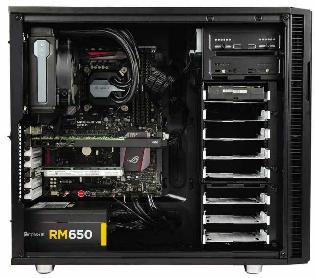 BELOW There's a reason three manufacturers chose this Fractal Design chassis it's easy to access and has enough space for powerful components