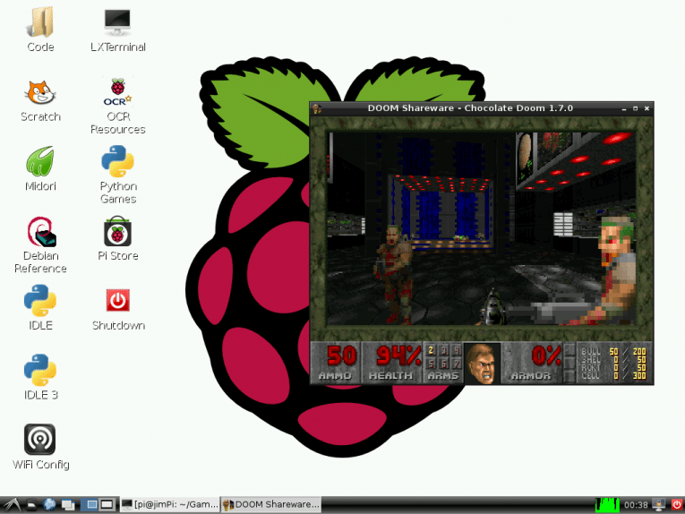 The LXDE desktop in Raspbian is simple, easy to use and runs well on low-powered hardware.