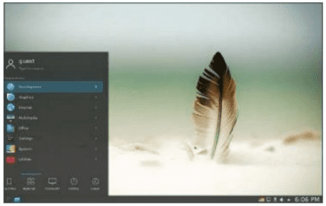 Above Porteus uses the KDE desktop, which gives it a contemporary graphical feel. You'll also notice that applications are easy to find and use