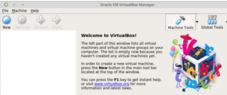 Figure 1: VirtualBox manager