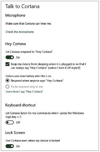 You can now control all Cortana settings from one