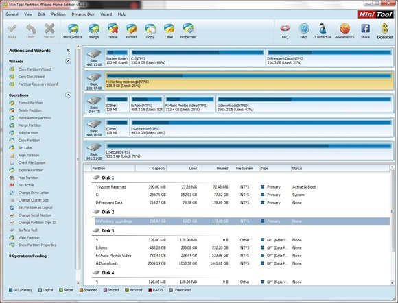 minitools partition wizard 9.1