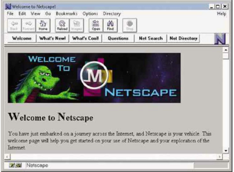 Netscape 1.0, back when the internet was a simpler place