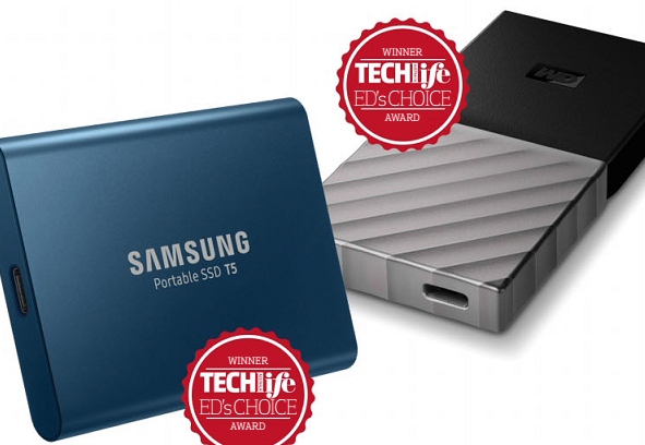 Samsung T5 Portable SSD and WD My Passport SSD
