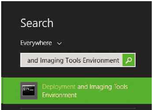 To run the Deployment and Imaging Tools, simply search for it