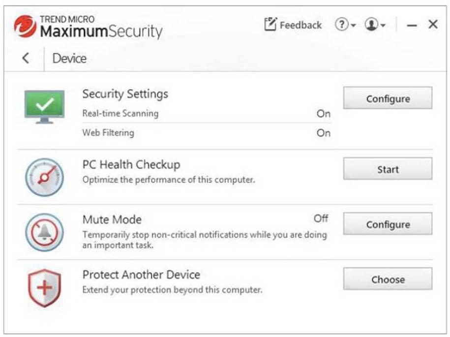 Maximum security's Data tab.
