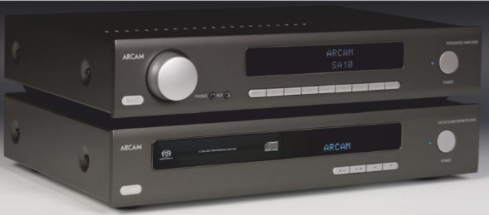 STACKED UP: Arcam's CDS50 player stacked under the SA10 amplifier from the same new HDA range.