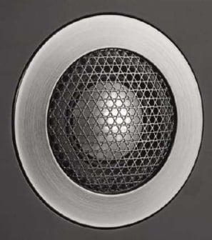 A wire mesh protects the 603's aluminium 'Double Dome' tweeter.