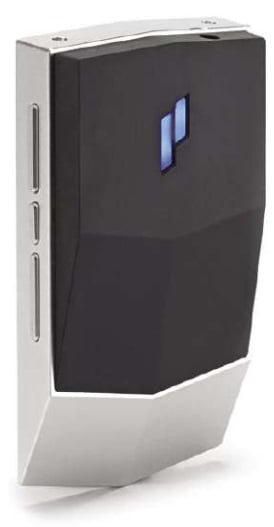 The on/off power button is (unusually) on the rear of the player and consists of a Plenue logo. Manual side buttons allow for all other functions to be accessed.