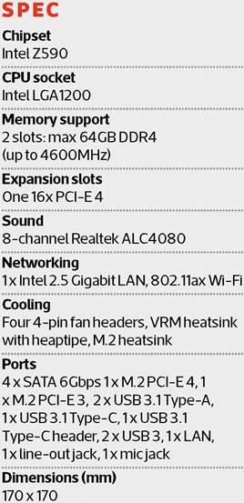 gigabyte z590i vision d review