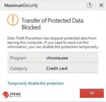 Maximum Security's data protection in action.