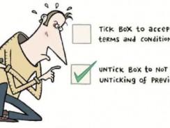 Tickbox confusion